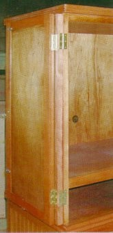 entertainment armoire with doors folded