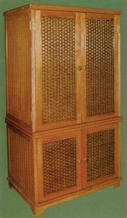 Wicker Armoire Double Door Wardrobe Wicker Wardrobe