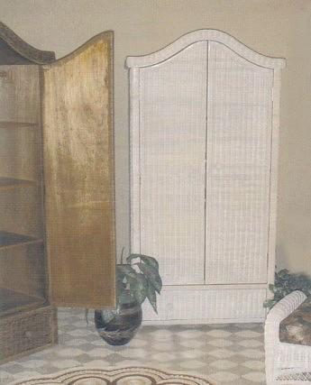 Wicker Armoire Double Door Wardrobe Wicker Wardrobe