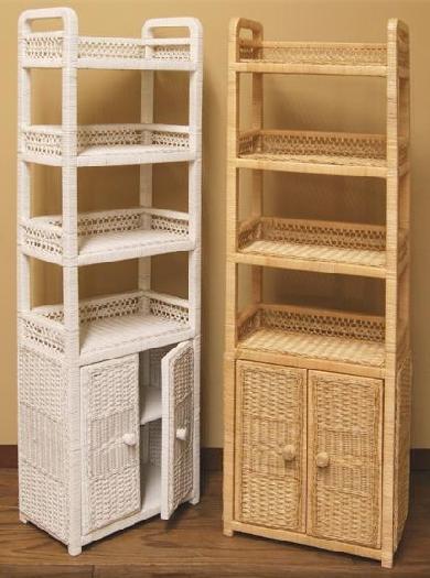 Wicker Shelves Wicker Bathroom Storage