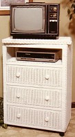 three drawer swivel top tv chest #4104