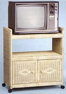 wicker furniture - tv stand with doors #4609