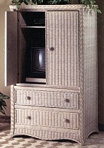 wicker tv armoire #4003