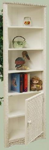 wicker corner cabinet