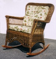 wicker furniture : porch or sunroom rocker #8813-9