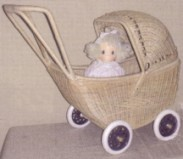 wicker push carriage