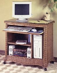 wicker computer furniture #4733