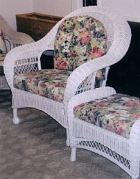 indoor wicker armchair for sunroom or porch #4736