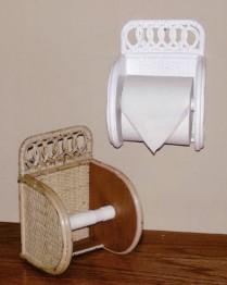 wicker toilet tissue holder