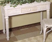 wicker furniture - wicker writing table, hall table #4458