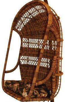 wicker hanging chair brown color