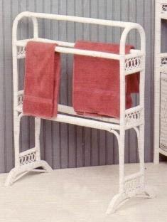 white towel stand