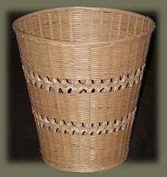 bamboo wastebasket