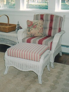 rattan furniture - armchair , ottoman #4139