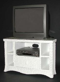 Wicker Tv Stand Entertainment Center Computer Station