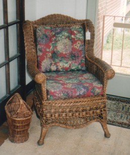 wicker sunroom furniture - armchair #6100-9