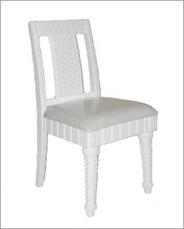 dining room chair with wicker and rattan design