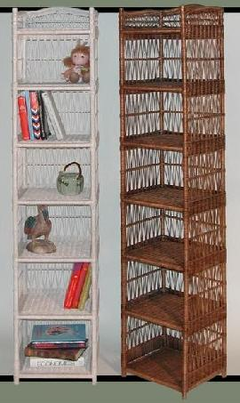 tall narrow shelf for wicker bathroom storage