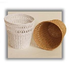 wicker wastebaskets