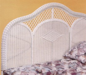 white wicker headboard full