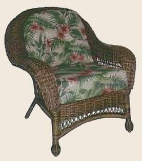 deep seat wicker chair cushion set round back or square back