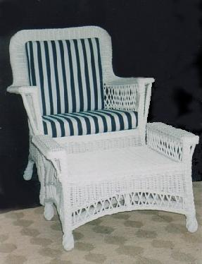 wicker porch set - wicker chair , wicker ottoman #8813-9