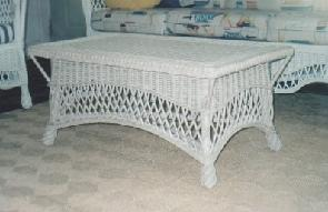 wicker porch furniture - coffee table #8813-9