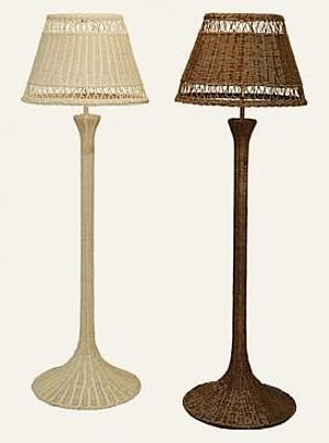 Wicker lamps wicker lamp shades hanging lamps aloadofball Image collections