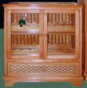 wicker deisgn wine cabinet #4284