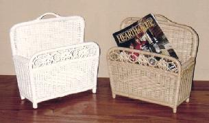 wicker mail basket