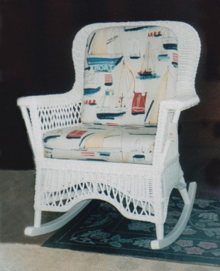 wicker furniture - rocker #8813-9