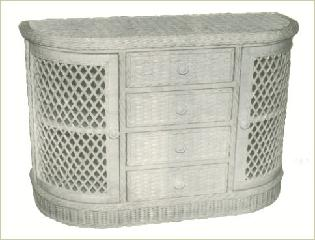 wicker furniture dining room server #4898