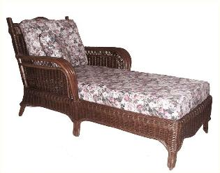rattan chaise for living room or porch #4139