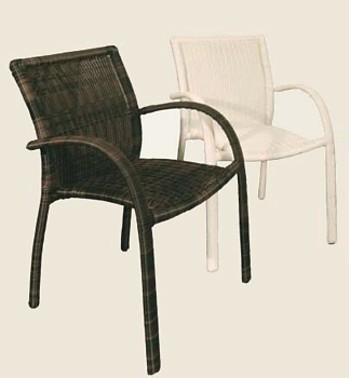 wicker patio chairs - espresso & white