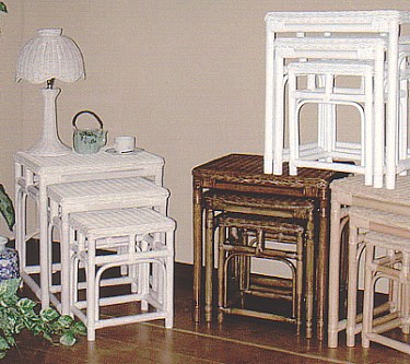 wicker nesting tables