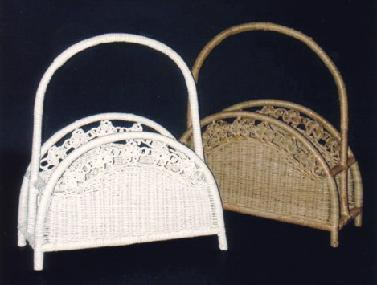 wicker magazine baskets #4223