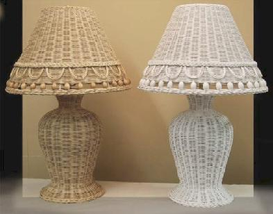 Charming Wicker Table Lamp #4314