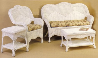 wicker porch set, sunroom set, living room set #6210-9