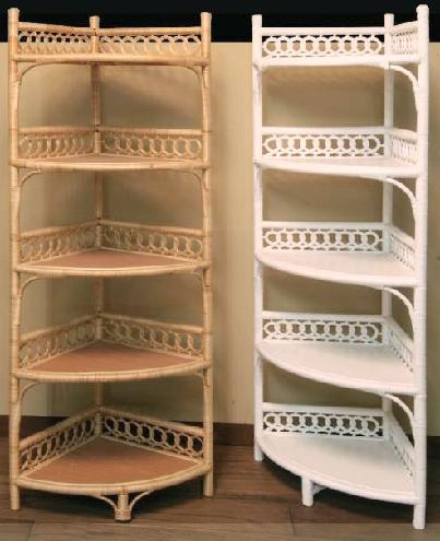 wicker corner shelves