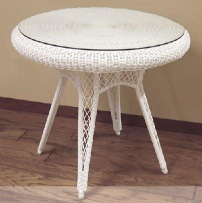 wicker patio table #4826P