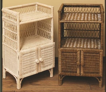 wicker towel stand