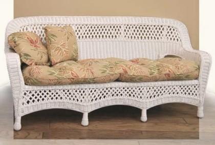 Greenwich Style Wicker Porch Furniture Shown In White Stock 5594
