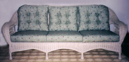 wicker full length sofa #4736