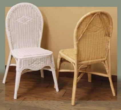 plain wicker chair #4258