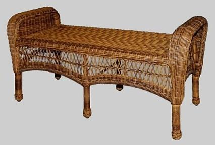 wicker bench seat ,