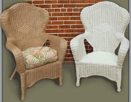 wicker chair #4074