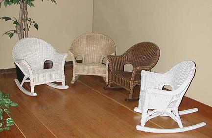 Charmant Wicker Childrens Rockers Shown In WHITEWASH, NATURAL, BROWN, WHITE