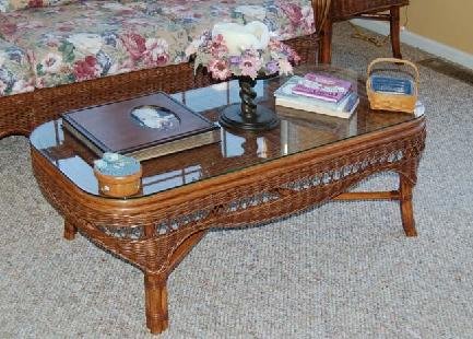 rattan living room coffee table #4139