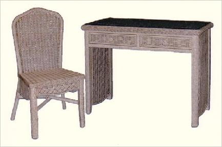 wicker furniture - wicker student desk #4774