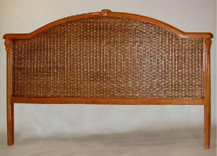 brown wicker headboard king